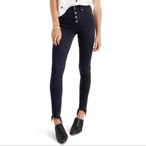 "Madewell 9"" Mid-Rise Skinny Jeans Berkeley Black"
